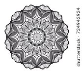decorative flower mandala.... | Shutterstock .eps vector #724942924