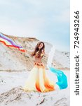 portrait of beautiful girl... | Shutterstock . vector #724943266