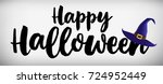 happy halloween banner. witch's ... | Shutterstock .eps vector #724952449