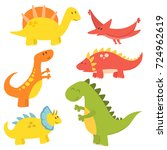 Cartoon Dinosaurs Vector...