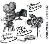 movie camera original hand... | Shutterstock .eps vector #72496432