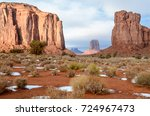 view of the north window rock... | Shutterstock . vector #724967473