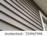 close up look at vinyl siding... | Shutterstock . vector #724967548