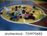 Multicolored Balls Of Yarn On...