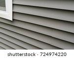 vinyl siding texture installed... | Shutterstock . vector #724974220