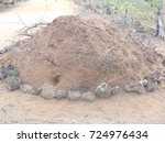 Small photo of Sand heap for construction