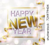 glitter texture happy new year... | Shutterstock .eps vector #724979404