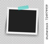 photo frame with adhesive tape... | Shutterstock . vector #724979959