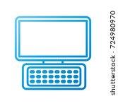 computer keyboard device modern ... | Shutterstock .eps vector #724980970