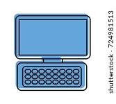 computer keyboard device modern ... | Shutterstock .eps vector #724981513