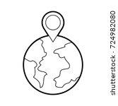 globe world pointer map... | Shutterstock .eps vector #724982080