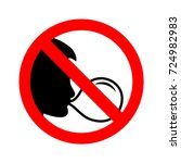 Sign no chewing gum. Vector illustration.