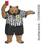 brown russian bear soccer... | Shutterstock .eps vector #724984330