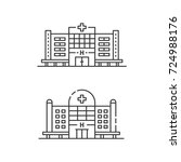 hospital icon set. collection... | Shutterstock .eps vector #724988176