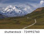 denali  mount mckinley  is the... | Shutterstock . vector #724992760