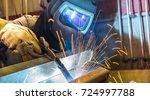 welder  craftsman  erecting... | Shutterstock . vector #724997788
