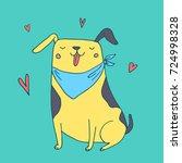 cute funny dog in love vector...   Shutterstock .eps vector #724998328