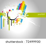 white text frame with stains... | Shutterstock .eps vector #72499930