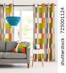 beautiful living room | Shutterstock . vector #725001124