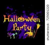 halloween party gradient text... | Shutterstock .eps vector #725001220