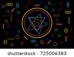 abstract concept future shapes... | Shutterstock .eps vector #725006383