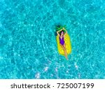 Top Aerial View Of A Woman...