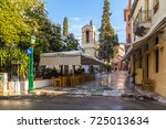 athens  greece   january 10 ...   Shutterstock . vector #725013634