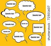 sketchy bubble speech | Shutterstock .eps vector #72501607