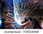 welder  craftsman  erecting... | Shutterstock . vector #725018308