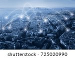 communication and network... | Shutterstock . vector #725020990