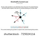 kirchhoff s current law... | Shutterstock .eps vector #725024116