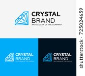 vector diamond ring logo design.... | Shutterstock .eps vector #725024659
