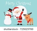 Vector Illustration Of Santa...