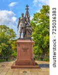 monument to russian emperor... | Shutterstock . vector #725036383