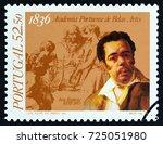 portugal   circa 1986  a stamp... | Shutterstock . vector #725051980