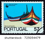 portugal   circa 1987  a stamp... | Shutterstock . vector #725054479
