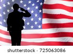 silhouette of a solider... | Shutterstock . vector #725063086