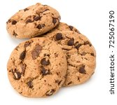 chocolate chip cookies isolated ... | Shutterstock . vector #725067190