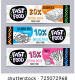 fastfood colorful modern... | Shutterstock .eps vector #725072968