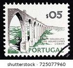 portugal   circa 1973  a stamp... | Shutterstock . vector #725077960