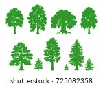 silhouettes of deciduous and... | Shutterstock .eps vector #725082358