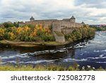 russian middle ages fortress...   Shutterstock . vector #725082778