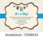 new baby boy | Shutterstock .eps vector #72508513