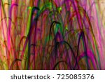 blurred colorful lights in... | Shutterstock . vector #725085376