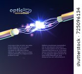 optic fibers connection vector...
