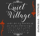 vector set of handwritten abc... | Shutterstock .eps vector #725099638