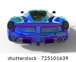 sports car rear view. the image ... | Shutterstock . vector #725101639