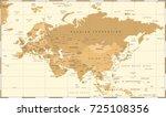 eurasia europa russia china... | Shutterstock .eps vector #725108356