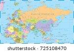 eurasia europa russia china... | Shutterstock .eps vector #725108470