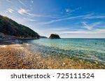 rocks on seaside of italian... | Shutterstock . vector #725111524